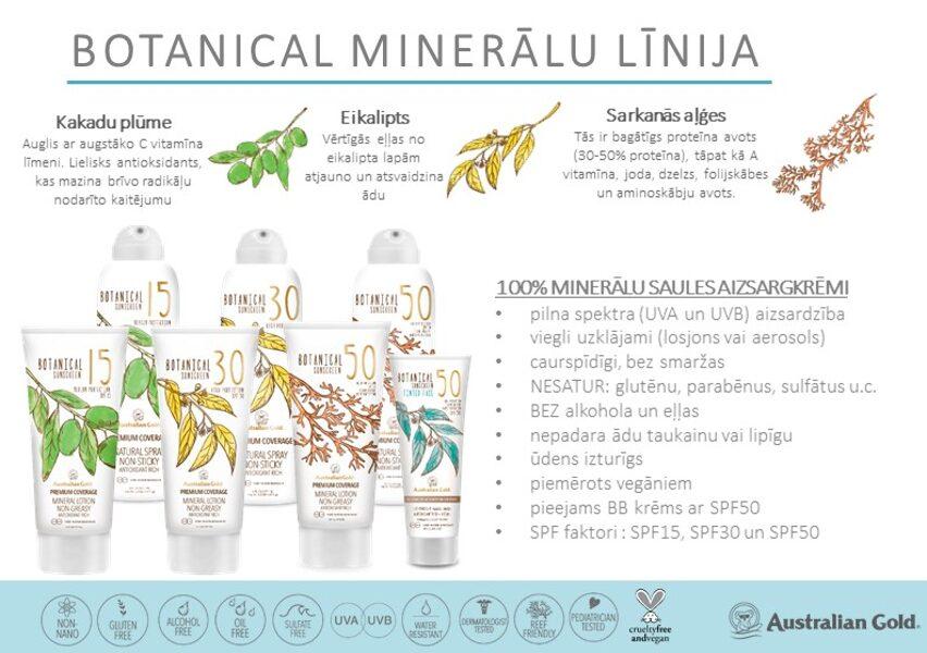 BOTANICAL - minerālu saules aizsargkrēmi