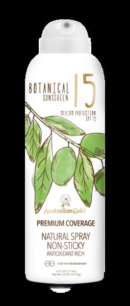 Australian Gold Botanical SPF 15 Continuous Spray 177ml saules aizsargfiltrs UVA/UVB
