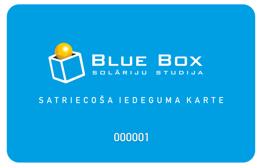 Blue Box bonusu karte Eur 27.00 vērtībā!