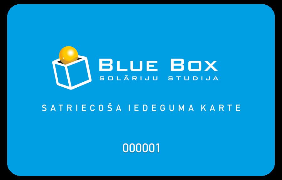 Blue Box bonusu karte Eur 145.00 vērtībā