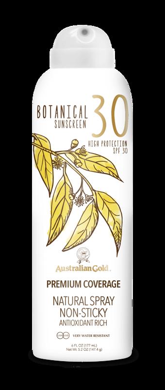 Australian Gold Botanical SPF 30 Continuous Spray 177ml saules aizsargfiltrs UVA/UVB